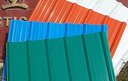 Tôle de toiture   <small>(Couverture en tôle ASA/PVC)</small>